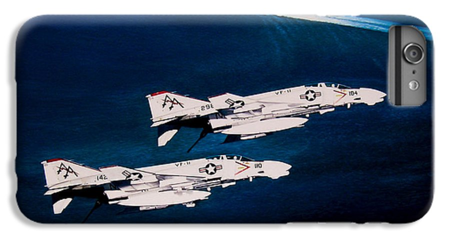 Military IPhone 6 Plus Case featuring the painting Forrestal S Phantoms by Marc Stewart