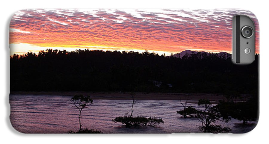 Landscape IPhone 6 Plus Case featuring the photograph Four Elements Sunset Sequence 8 Coconuts Qld by Kerryn Madsen - Pietsch