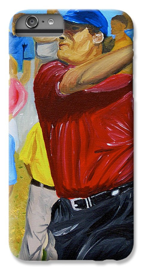 Golf IPhone 6 Plus Case featuring the painting Four by Michael Lee