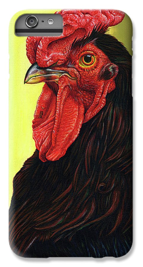 Rhode IPhone 6 Plus Case featuring the painting Fowl Emperor by Cara Bevan