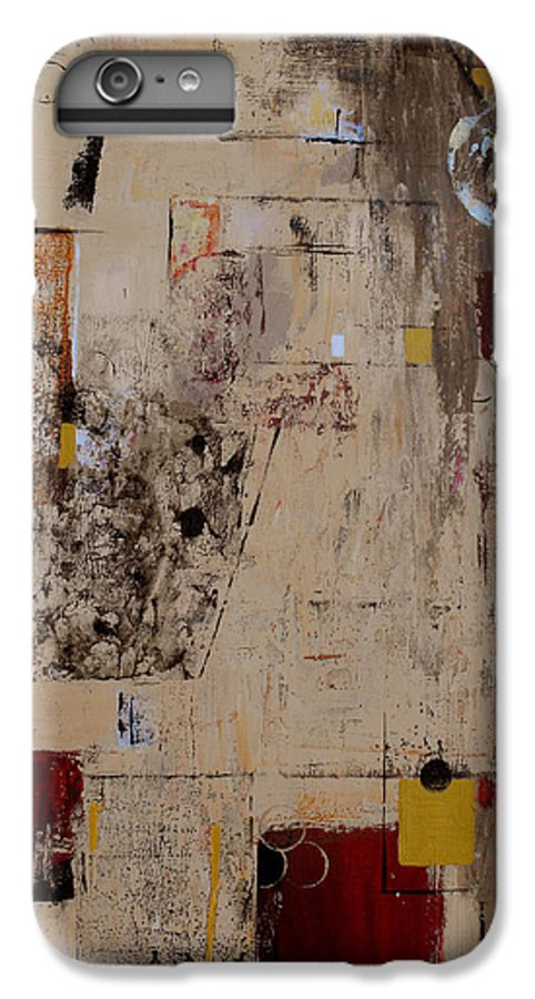 Abstract IPhone 6 Plus Case featuring the painting Fractions by Ruth Palmer