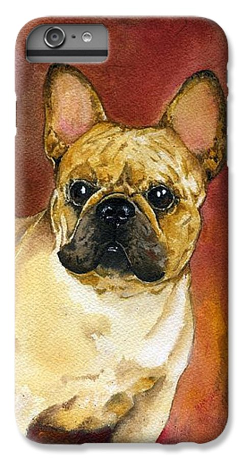 French Bulldog IPhone 6 Plus Case featuring the painting French Bulldog by Kathleen Sepulveda