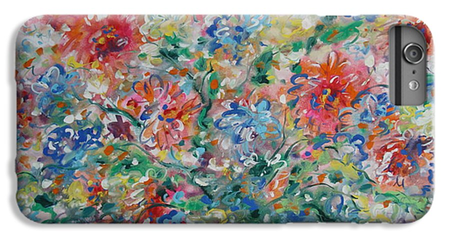 Flowers IPhone 6 Plus Case featuring the painting Fresh Bouquet by Leonard Holland