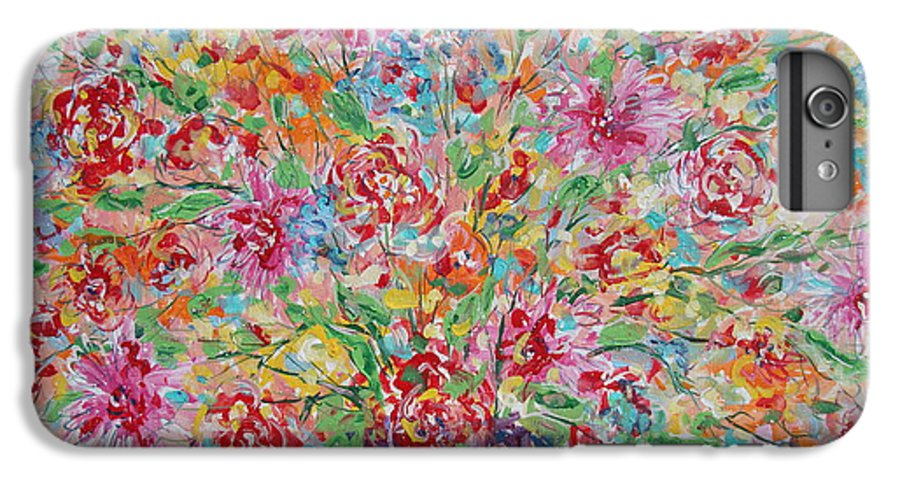 Painting IPhone 6 Plus Case featuring the painting Fresh Flowers. by Leonard Holland