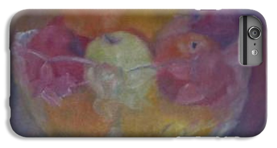 Still Life IPhone 6 Plus Case featuring the painting Fruit In Glass Bowl by Sheila Mashaw