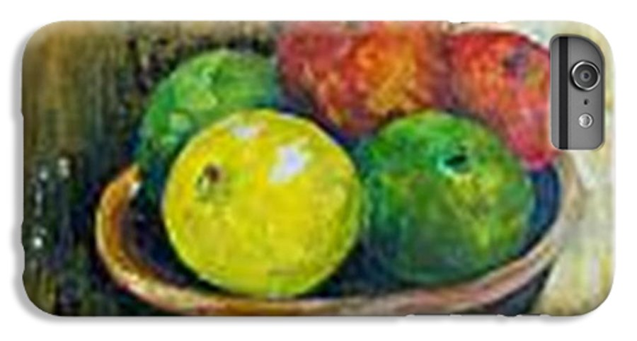 Apples And Oranges IPhone 6 Plus Case featuring the painting Frutas by Carol P Kingsley