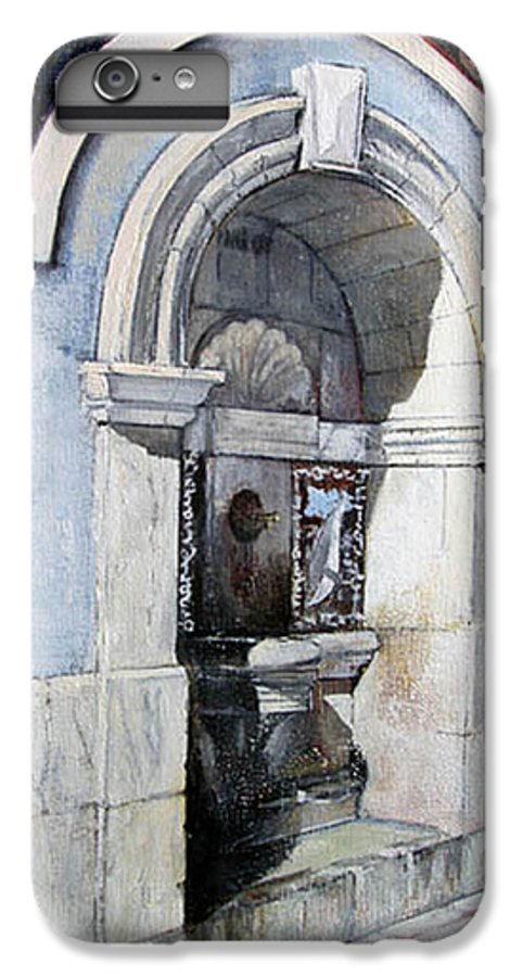 Fuente IPhone 6 Plus Case featuring the painting Fuente Castro Urdiales by Tomas Castano