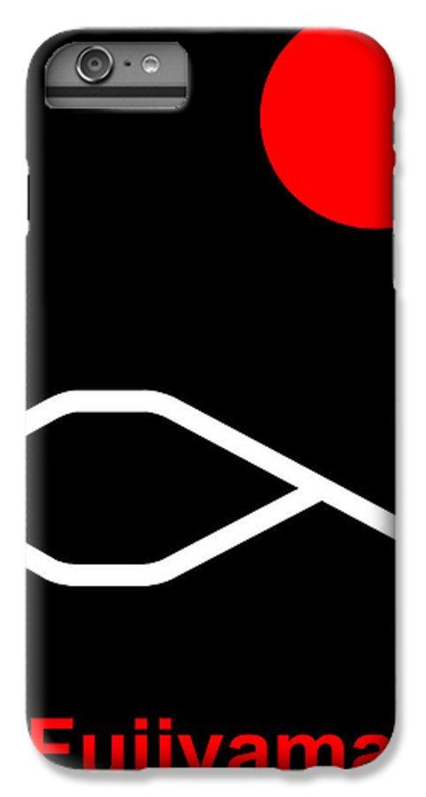 Fuji IPhone 6 Plus Case featuring the digital art Fujiyama by Asbjorn Lonvig