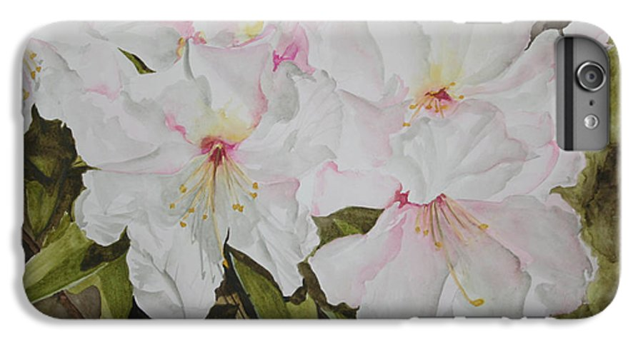 Flowers IPhone 6 Plus Case featuring the painting Full Bloom by Jean Blackmer
