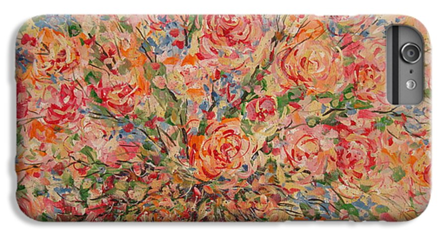 Flowers IPhone 6 Plus Case featuring the painting Full Bouquet. by Leonard Holland