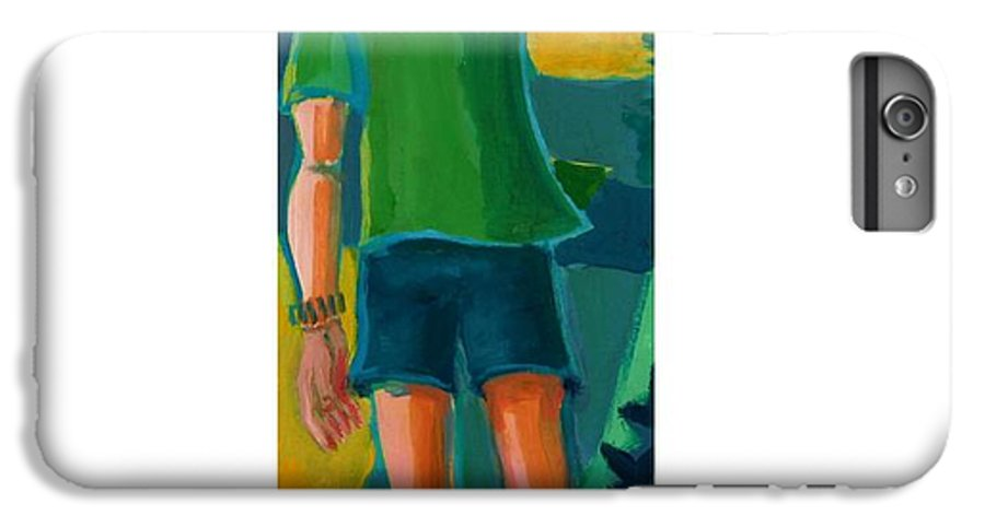 Portrait IPhone 6 Plus Case featuring the painting Gabrielle by Debra Bretton Robinson