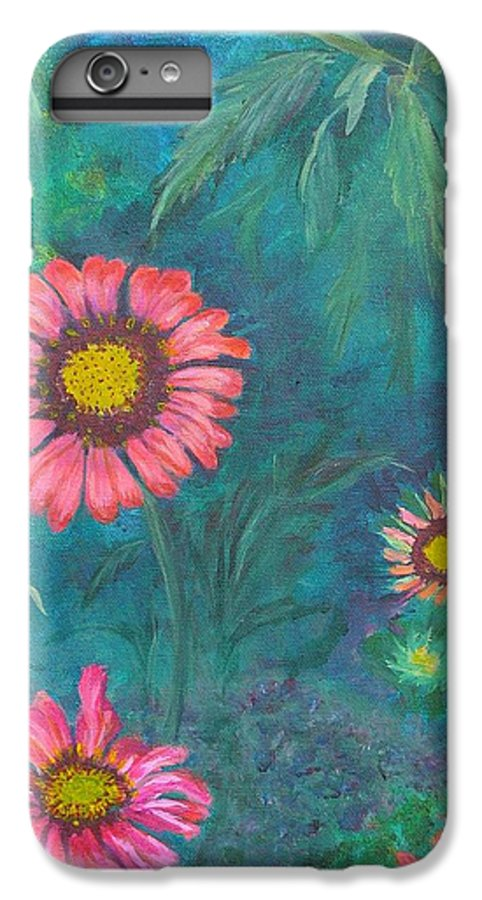 Garden IPhone 6 Plus Case featuring the painting Gallardia by Peggy King