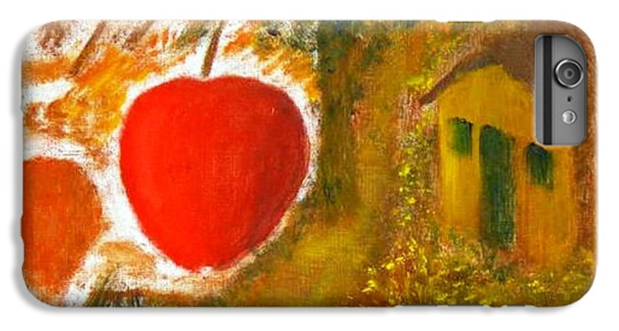 Abstract Apple Adam Ave IPhone 6 Plus Case featuring the painting Garden Of Eden by R B