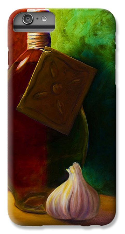 Shannon Grissom IPhone 6 Plus Case featuring the painting Garlic And Oil by Shannon Grissom