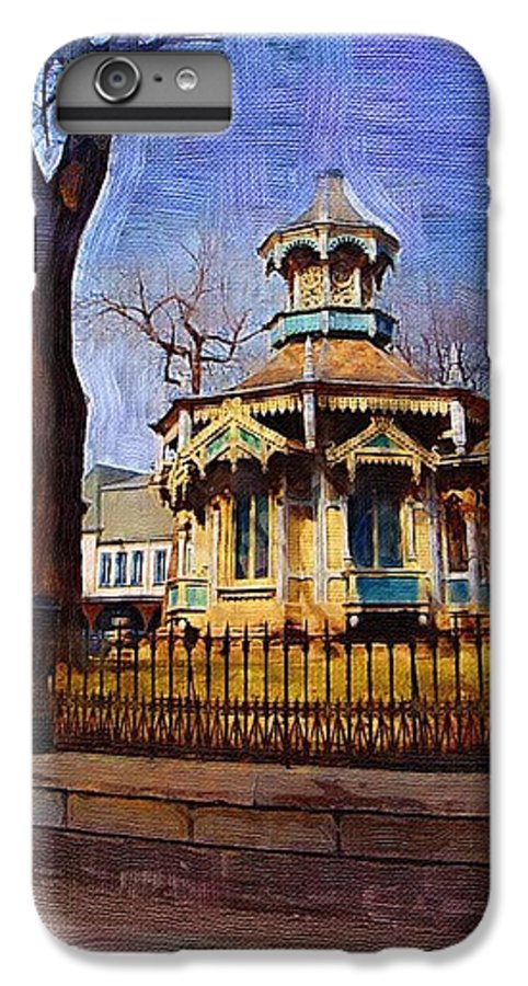 Architecture IPhone 6 Plus Case featuring the digital art Gazebo And Tree by Anita Burgermeister
