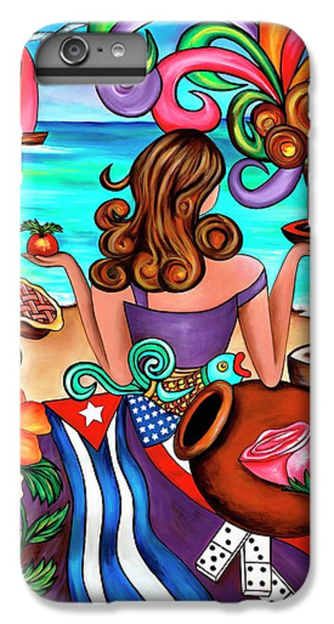 Cuba IPhone 6 Plus Case featuring the painting Generation Spanglish by Annie Maxwell