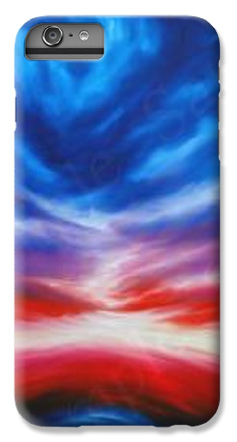 Tempest IPhone 6 Plus Case featuring the painting Genesis IIi by James Christopher Hill