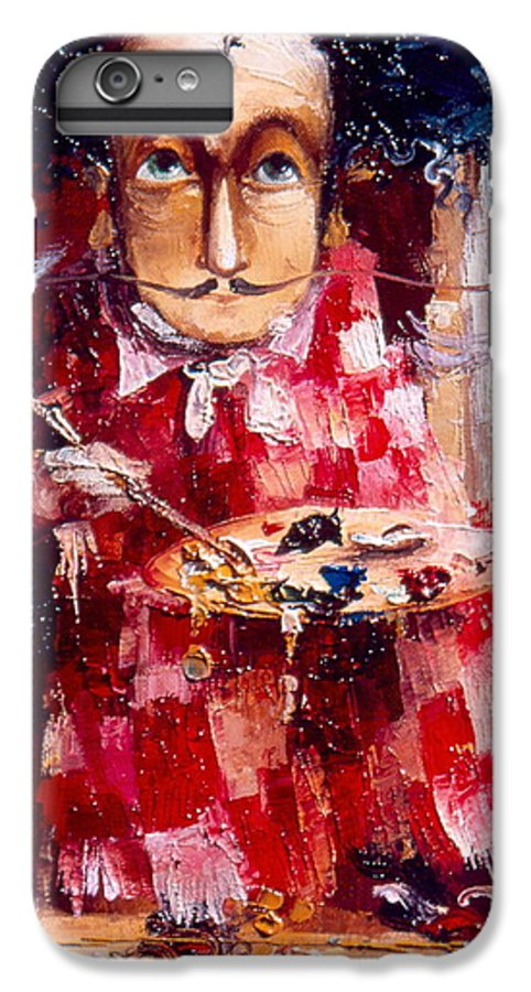 Genius IPhone 6 Plus Case featuring the painting Genius by Gia Chikvaidze