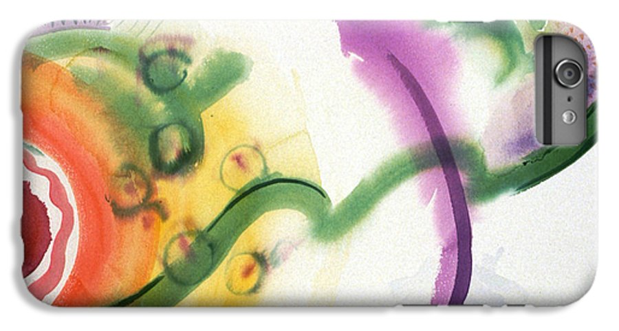 Abstract IPhone 6 Plus Case featuring the painting Geomantic Blossom Ripening by Eileen Hale