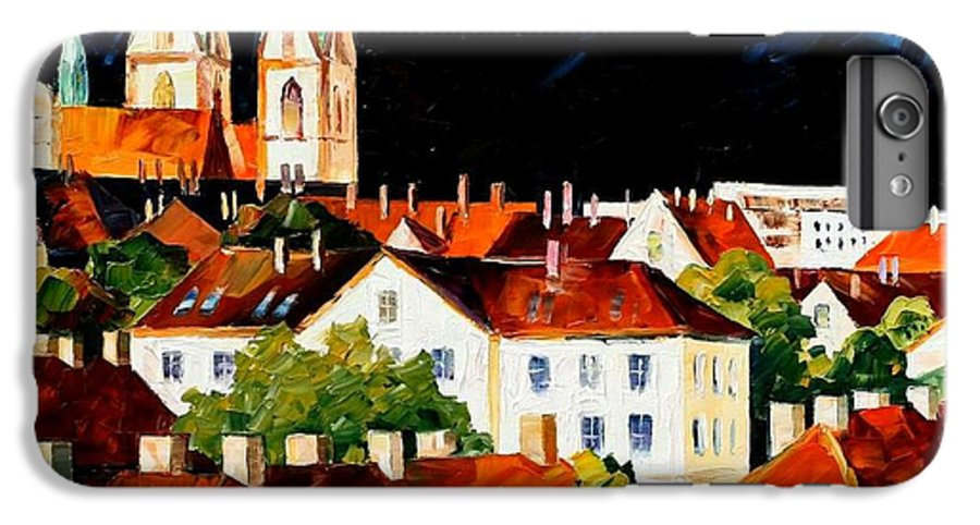 City IPhone 6 Plus Case featuring the painting Germany - Freiburg by Leonid Afremov