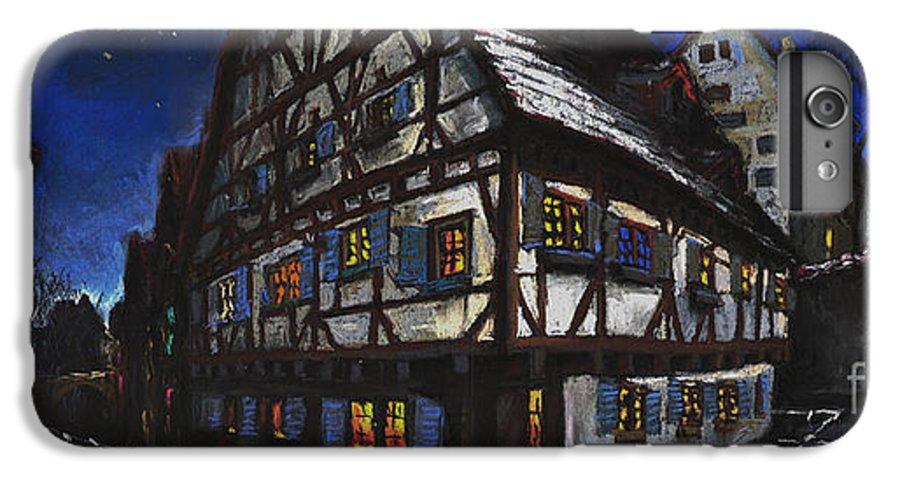 Pastel IPhone 6 Plus Case featuring the painting Germany Ulm Fischer Viertel Schwor-haus by Yuriy Shevchuk