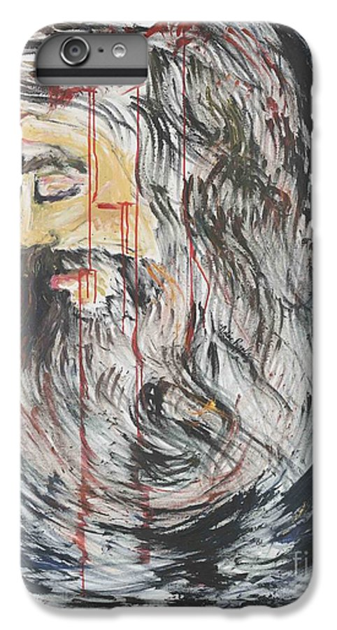 Jesus IPhone 6 Plus Case featuring the painting Gethsemane To Golgotha IIi by Nadine Rippelmeyer