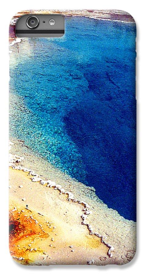 Geyser IPhone 6 Plus Case featuring the photograph Geyser Basin by Nancy Mueller