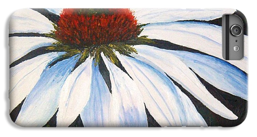 Cone Flowers IPhone 6 Plus Case featuring the painting Ghost Cone by Tami Booher