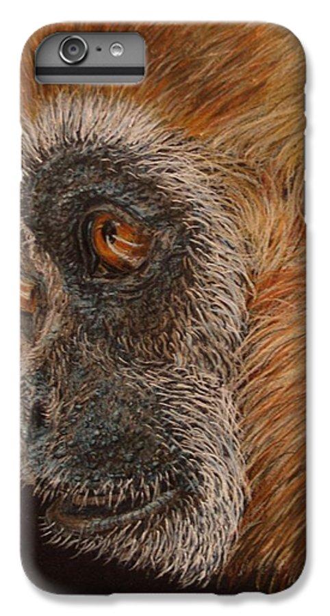Animals IPhone 6 Plus Case featuring the drawing Gibbon by Karen Ilari