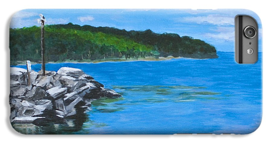 Gills Rock IPhone 6 Plus Case featuring the painting Gills Rock by Peggy King