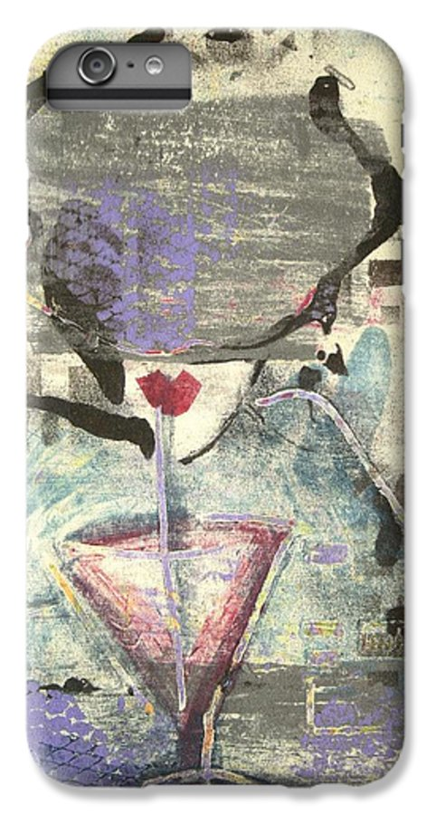 Cafe IPhone 6 Plus Case featuring the painting Girl With Drink by Maryn Crawford
