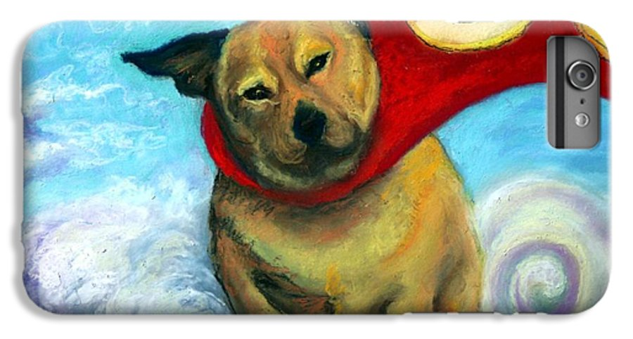 Dog IPhone 6 Plus Case featuring the painting Gizmo The Great by Minaz Jantz