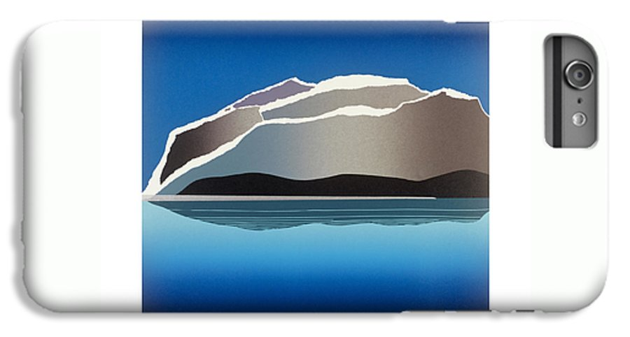 Landscape IPhone 6 Plus Case featuring the mixed media Glaciers by Jarle Rosseland
