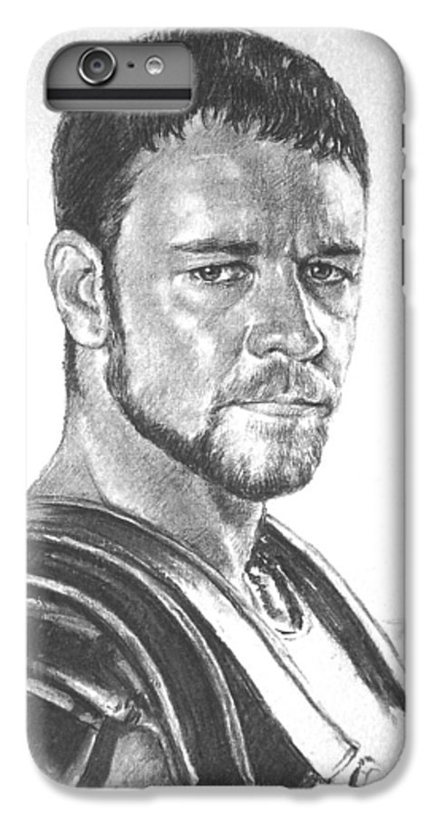 Portraits IPhone 6 Plus Case featuring the drawing Gladiator by Iliyan Bozhanov