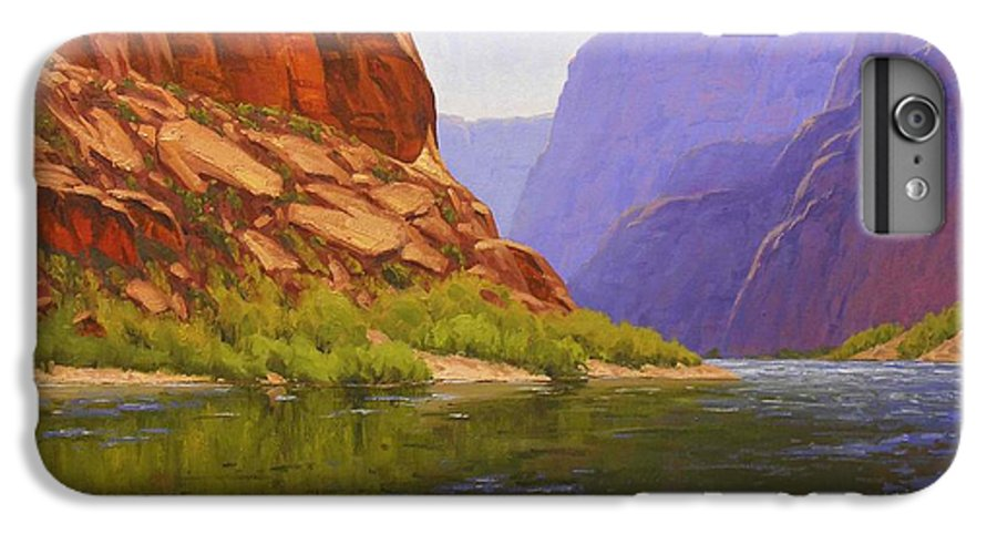 Cody Delong IPhone 6 Plus Case featuring the painting Glen Canyon Morning by Cody DeLong