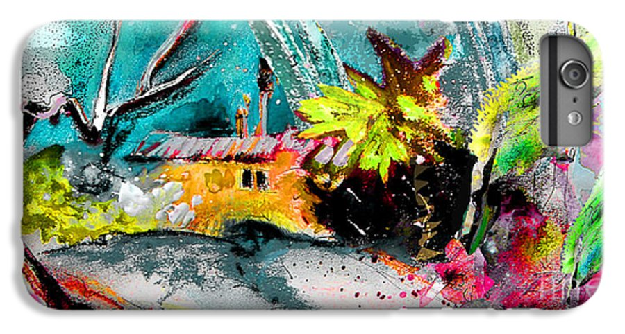 Pastel Painting IPhone 6 Plus Case featuring the painting Glory Of Nature by Miki De Goodaboom
