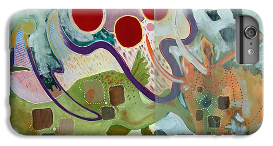 Abstract Expressionist Dream-surreal IPhone 6 Plus Case featuring the painting Goat Squad by Eileen Hale