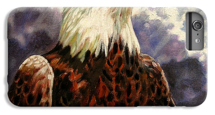 American Bald Eagle IPhone 6 Plus Case featuring the painting God Bless America by John Lautermilch