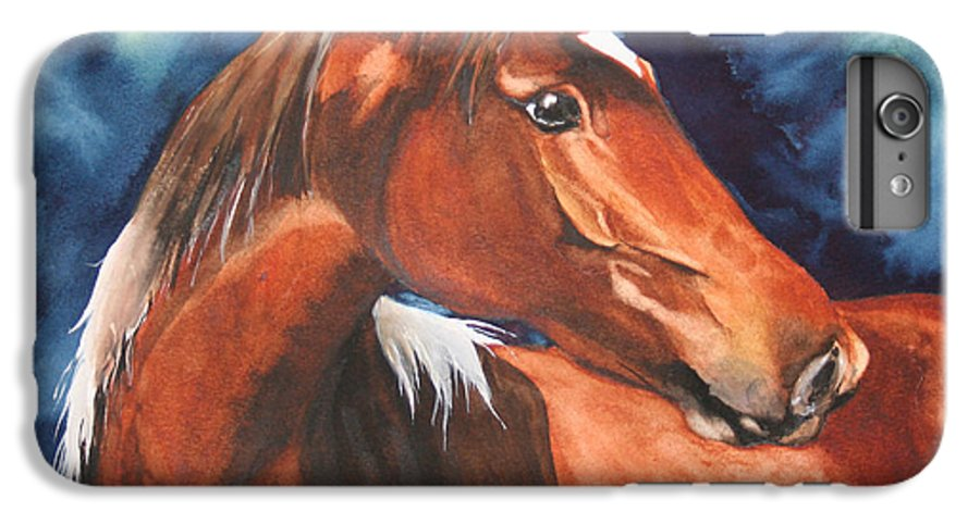 Horse IPhone 6 Plus Case featuring the painting Golden Boy by Jean Blackmer