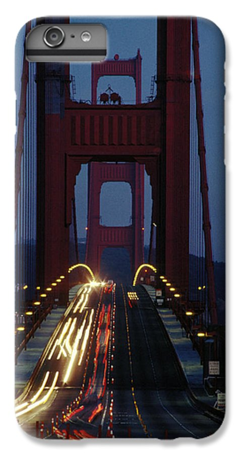 Evening IPhone 6 Plus Case featuring the photograph Golden Gate Bridge by Carl Purcell