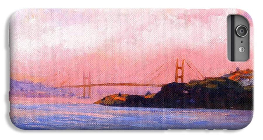 Landscape IPhone 6 Plus Case featuring the painting Golden Gate Bridge by Frank Wilson