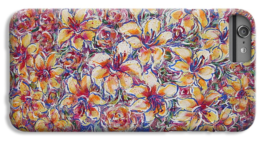 Lily IPhone 6 Plus Case featuring the painting Golden Splendor by Natalie Holland