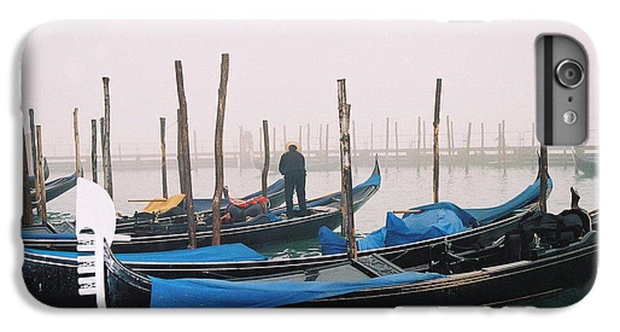 Landscape IPhone 6 Plus Case featuring the photograph Gondolas by Kathy Schumann