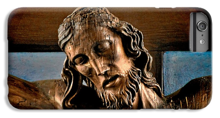 Easter IPhone 6 Plus Case featuring the photograph Good Friday Jesus On The Cross by Christine Till