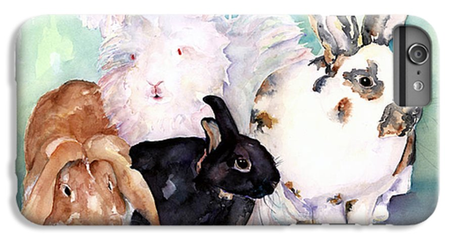 Animal Artwork IPhone 6 Plus Case featuring the painting Good Hare Day by Pat Saunders-White