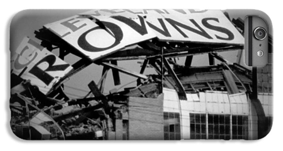 Cleveland IPhone 6 Plus Case featuring the photograph Goodbye Cleveland Stadium by Kenneth Krolikowski