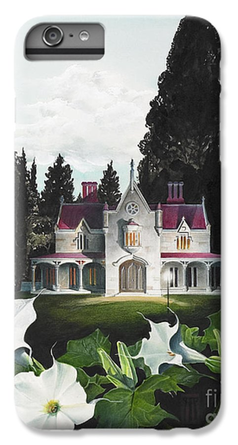 Fantasy IPhone 6 Plus Case featuring the painting Gothic Country House Detail From Night Bridge by Melissa A Benson