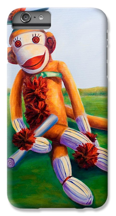 Graduation IPhone 6 Plus Case featuring the painting Graduate Made Of Sockies by Shannon Grissom