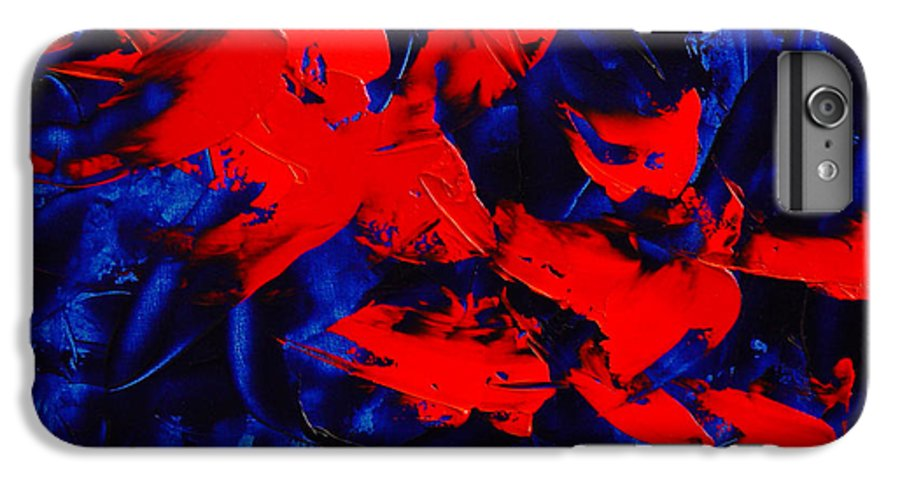 Abstract IPhone 6 Plus Case featuring the painting Grandma II by Dean Triolo