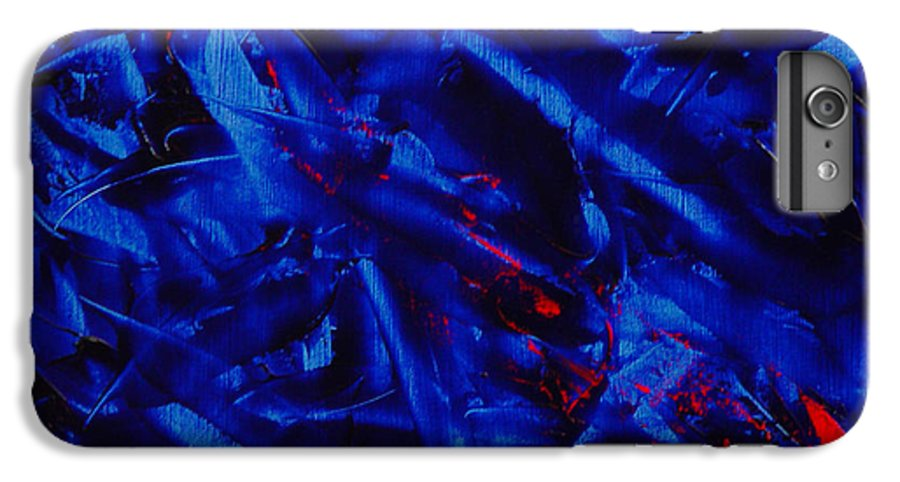 Abstract IPhone 6 Plus Case featuring the painting Grandma IIi by Dean Triolo